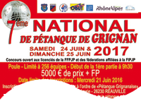 NATIONAL de Pétanque GRIGNAN 2017