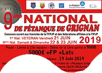NATIONAL de Pétanque GRIGNAN 2019